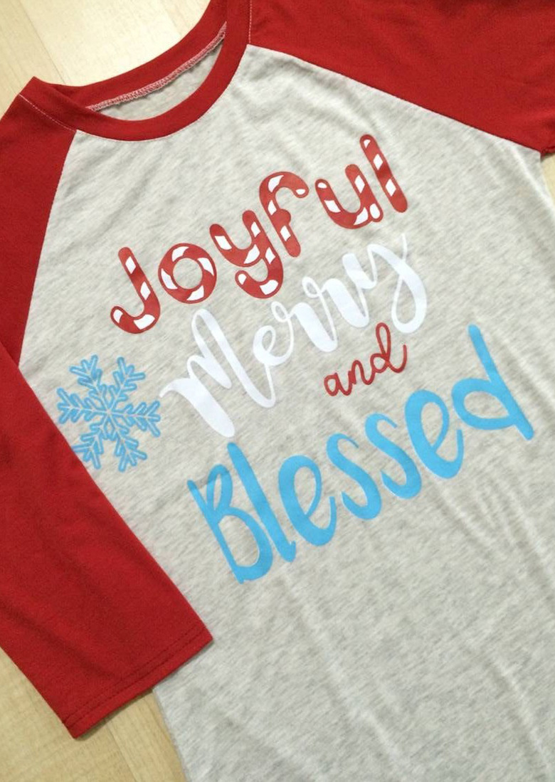 Christmas Snowflake Joyful Merry And Bright Baseball T