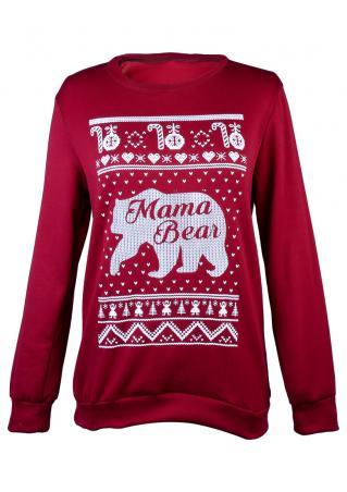 Mama Bear Christmas Ball & Snowflake Sweatshirt