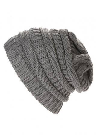 Solid Knitted Warm Hat