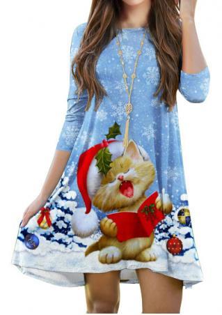 Christmas Snowflake & Hat Cat Dress