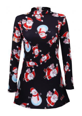 Christmas Snowman & Santa Claus Dress