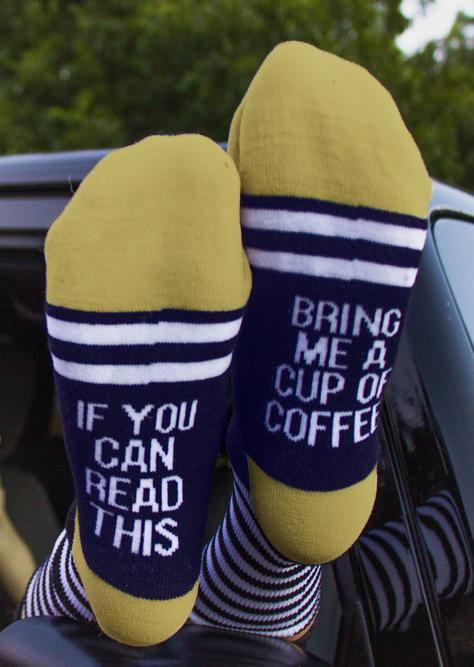 Bring Me a Cup of Coffee Socks 25728