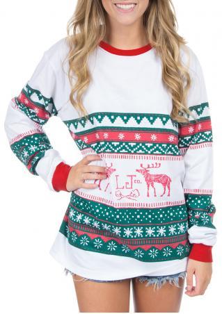 Christmas Reindeer Snowflake Sweatshirt Christmas