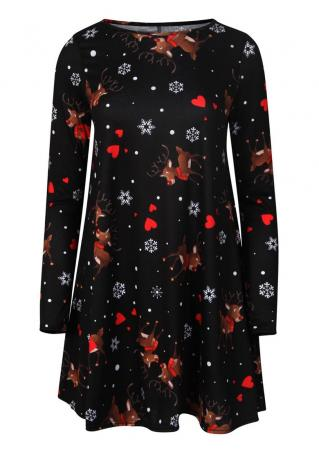 Christmas Snowflake & Reindeer Dress