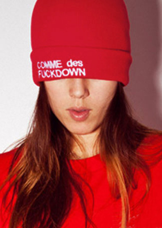 Image of Comme Des Fuckdown Star Knitted Hat