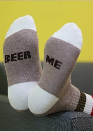 Beer Me Color Block Socks Beer