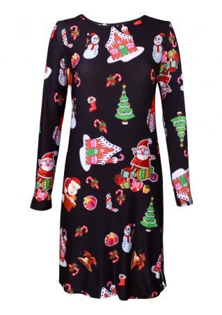 Christmas House Santa Snowflake Mini Dress Christmas