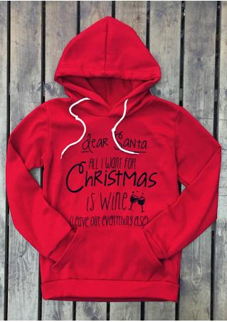 All I Want for Christmas is Wine Hoodie All