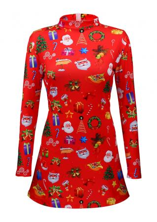 Christmas Gift & Santa Claus & Tree Dress Christmas