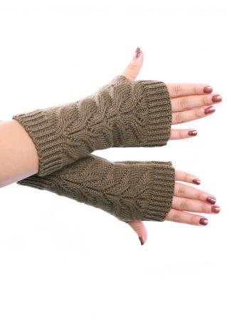 Solid Fingerless Warm Gloves Solid