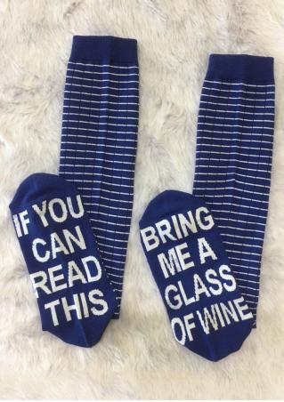Bring Me a Glass of Wine Striped Socks