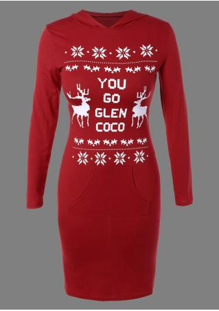 Christmas You Go Glen Coco Reindeer Snowflake Dress