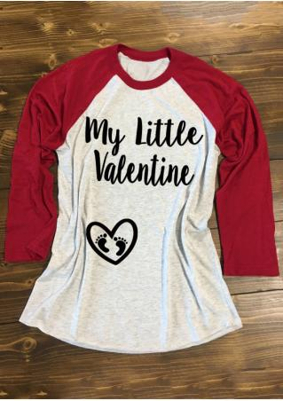 My Little Valentine & Heart Design Baseball T-Shirt