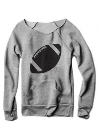 Football Pocket O-Neck Sweatshirt