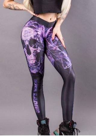Skull Stretchy Skinny Leggings