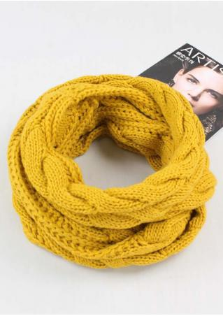 Solid Knitted Warm Scarf Solid