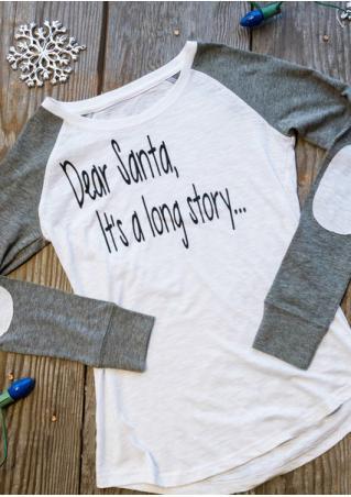 Dear Santa It's a Long Story Baseball T-Shirt Dear