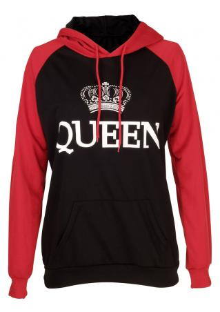 Crown Queen Drawstring Hoodie