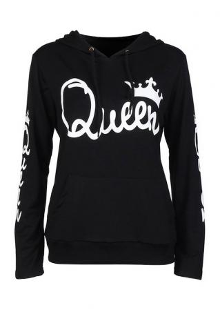 Queen Crown Long Sleeve Hoodie