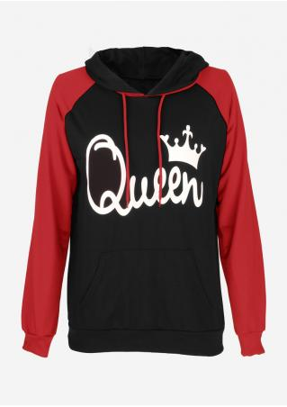 Queen Drawstring Casual Hoodie