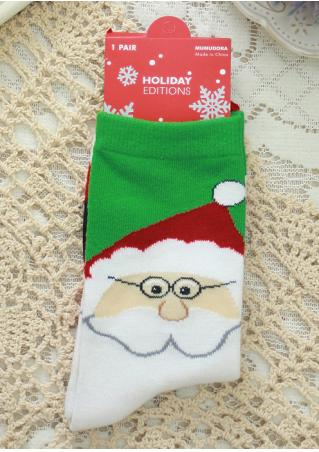 Christmas Santa & Snowman Socks Christmas