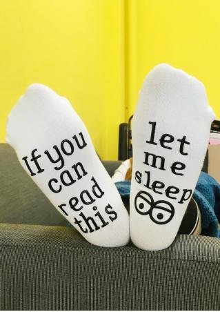 Let Me Sleep Eyes Socks