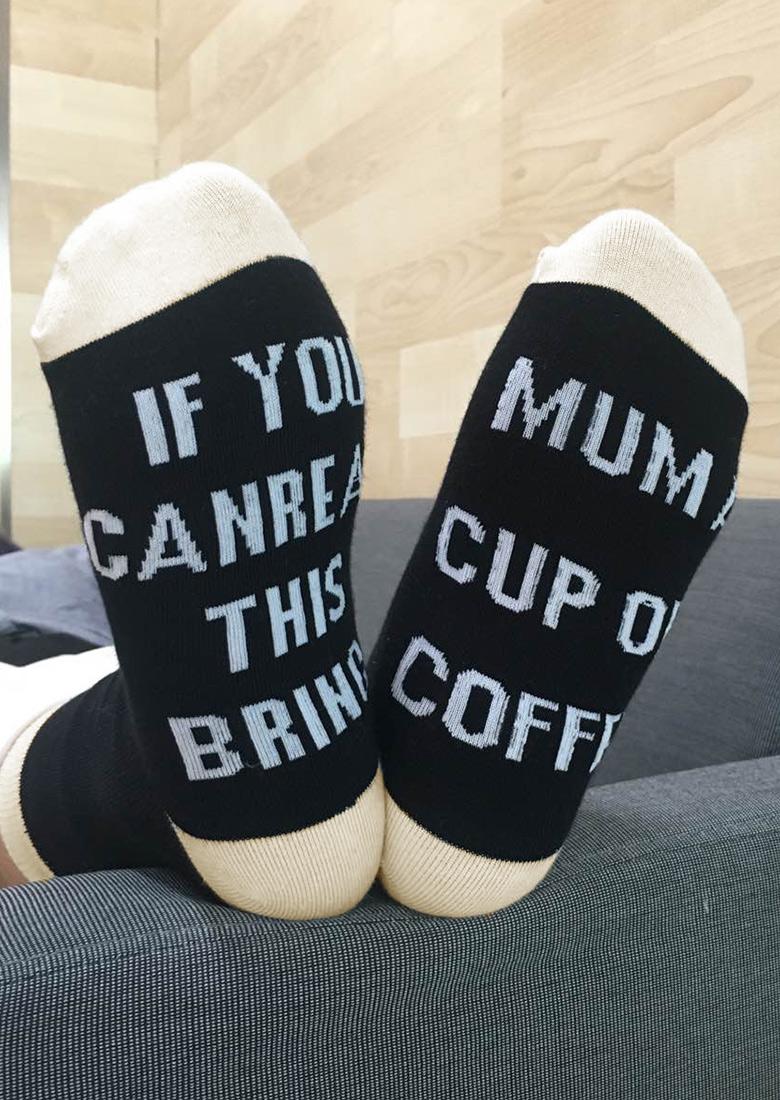Bring Mum a Cup of Coffee Socks 25972