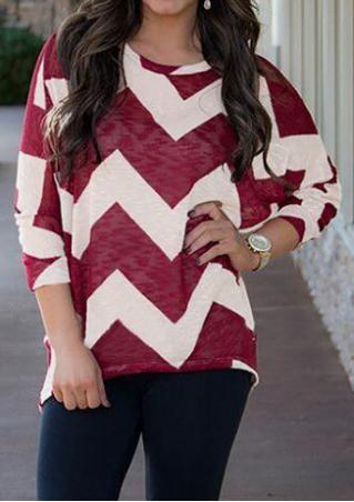 Wave Batwing Sleeve Sweater
