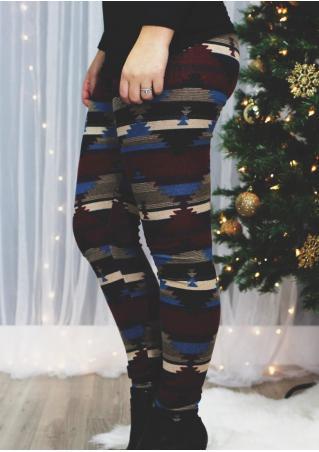 Christmas Tree Stretchy Leggings