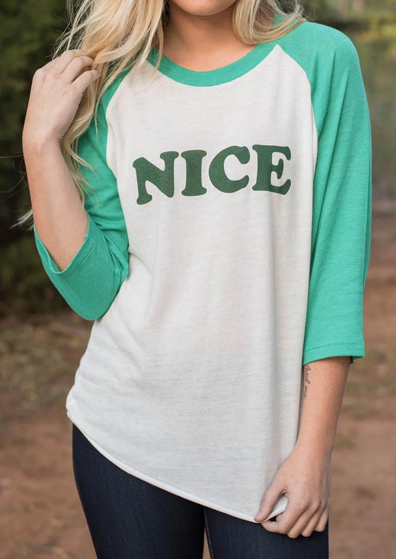 Tricou de damă, casual, fashion, cu imprimeu frontal și mâneci 3/4
