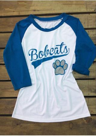 Bobcats Palm Baseball T-Shirt Bobcats