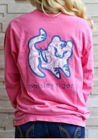 Paisley Tiger Casual T-Shirt