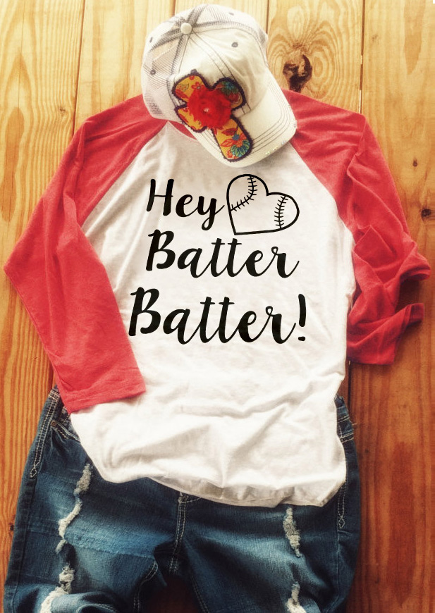 1171b2389 Hey Batter Batter Baseball T-Shirt - Fairyseason