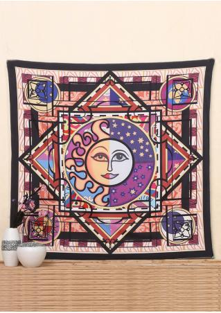 Sun & Eye Geometric Rectangle Tapestry