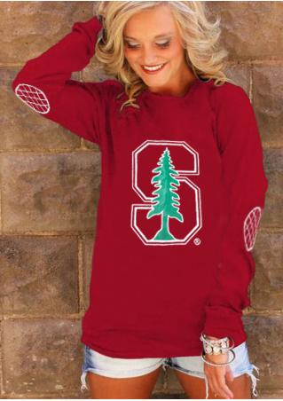 Stanford Elbow Patch Printed T-Shirt