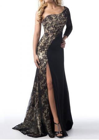 Lace Floral Splicing Maxi Dress