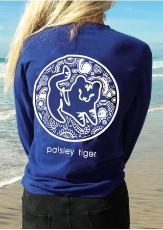 Paisley Tiger Pocket T-Shirt