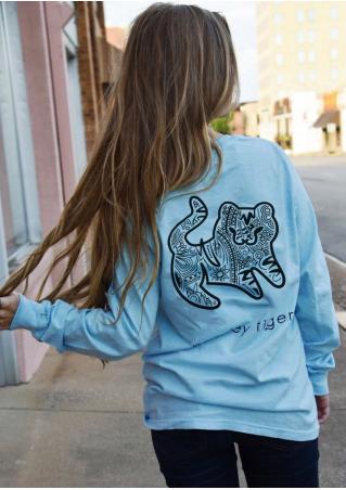 Paisley Tiger Long Sleeve T-Shirt