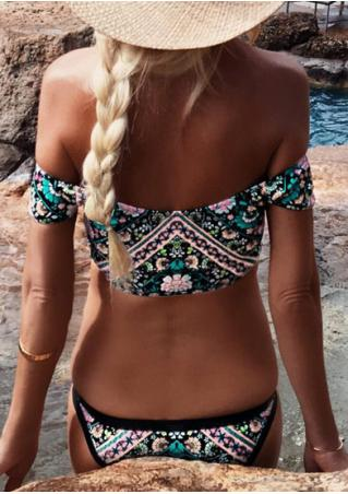 Floral Off Shoulder Bikini Set