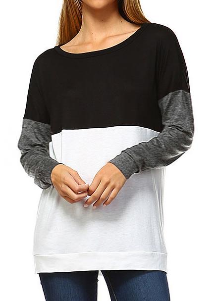 Bluză de damă, elegantă, casual, din poliester, multicoloră