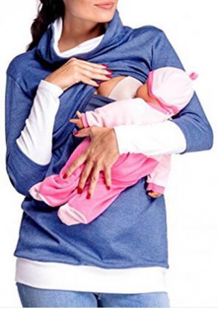 Happy Mama Maternity Lactation Sweatshirt Happy