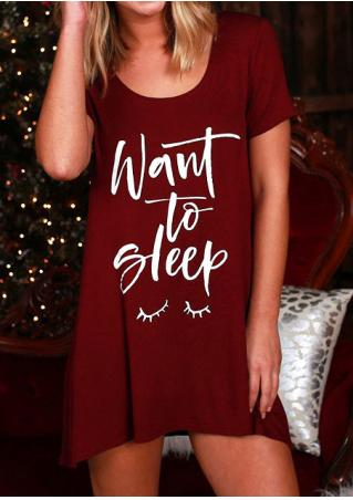 Want to Sleep Mini Dress