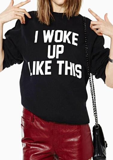 I Woke Up Like This Sweatshirt Fairyseason