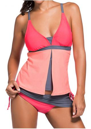 Color Block Tankini Color