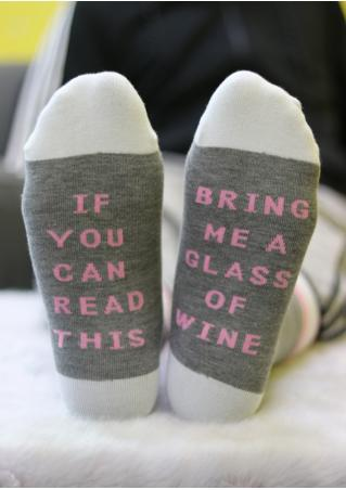 Bring Me a Glass of Wine Warm Socks