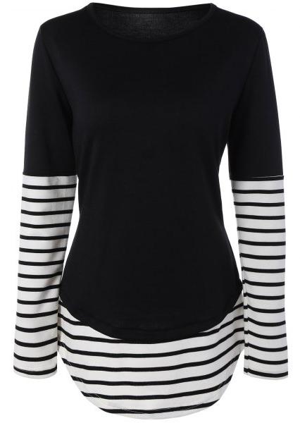 Bluză lungă de damă, elegantă, din poliester, cu mâneci lungi