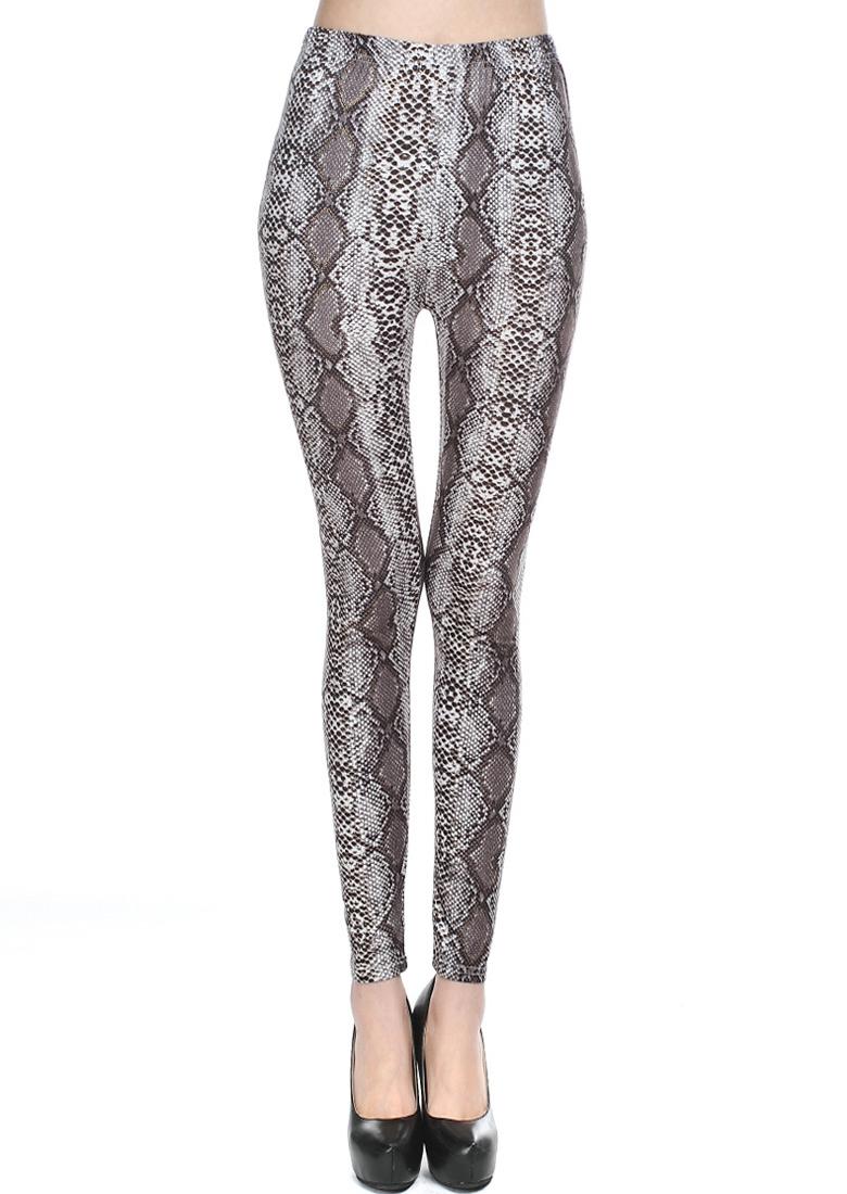 Pantaloni leggings de damă, fashion, cu imprimeu și talie elastică
