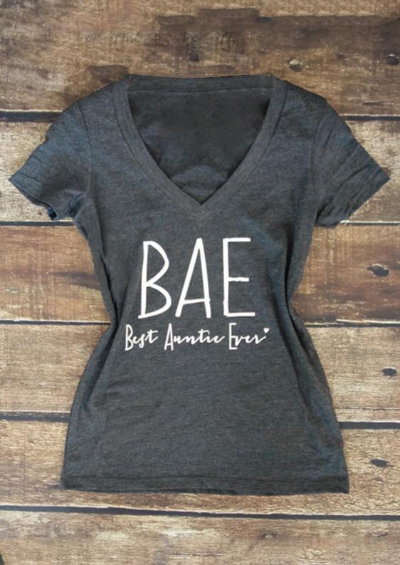 Tricou de damă, casual, cu mâneci scurte, guler în V și imprimeu