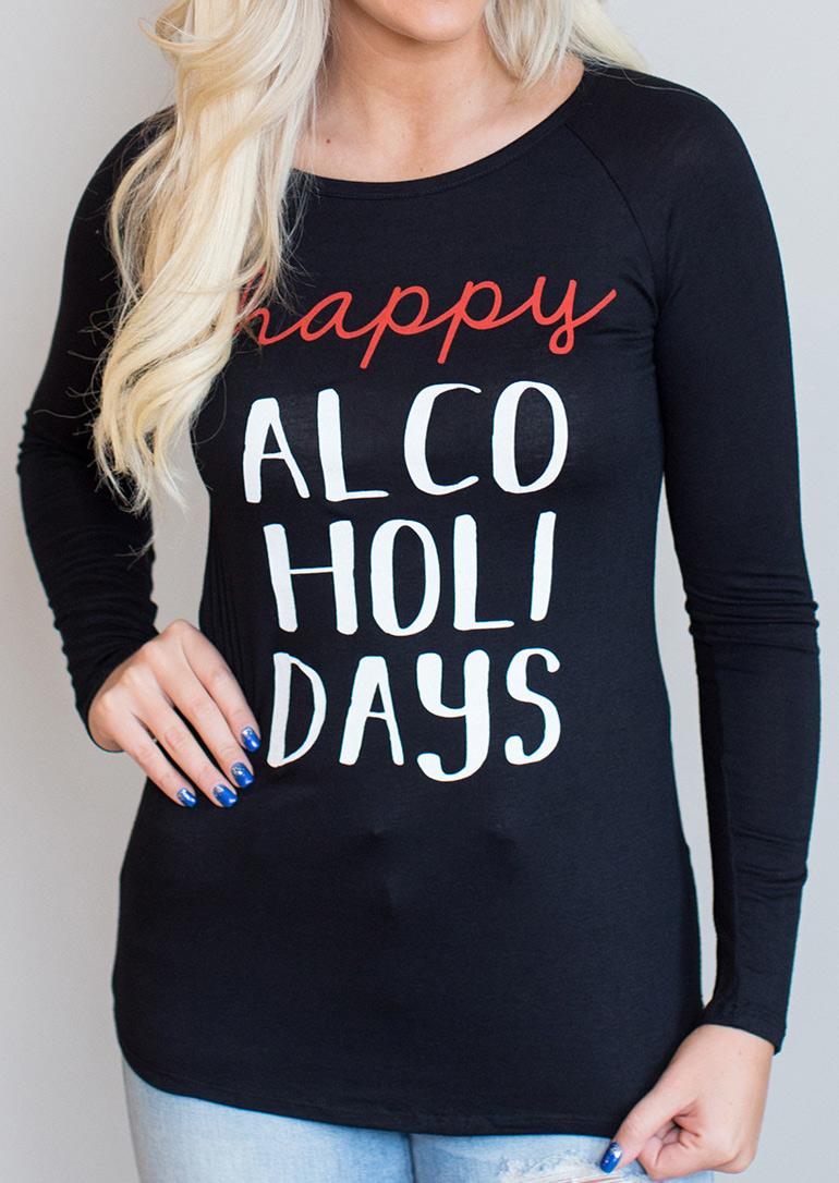 Tricou de damă, fashion, slim fit, cu imprimeu grafic și mâneci lungi
