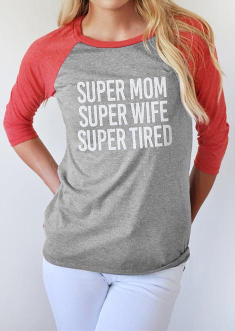 Tricou de damă, fashion, din poliester, cu mâneci lungi și imprimeu grafic